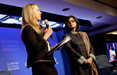 Sania Nishtar at the Clinton Global Initiative in New York, USA accepting recognition for Heartfile�s Commitment as an exemplary approach to addressing challenges in global health in September, 2011