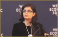 Sania Nishtar, Davos, Switzerland. January 2013