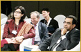 Dr. Sania Nishtar representing Pakistan at the World Economic Forum on India 2012 session on Health Collaboration as a Bridge. Other panelists included Dr. Naresh Trehan, Prof. K Srinath Reddy, and Pretha C. Reddy from the Indian side and Jahangir Khan Tareen from the Pakistan side.