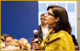 Sania Nishtar speaking at the Clinton Global Initiative Mid Year Meeting in New York, on June 25, 2012 as a Plenary speaker and Commitment presenter at a Commitment Workshop on �Multi-sectoral action on NCDs�.