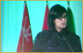 Sania Nishtar in Riyadh, Saudi Arabia, September 10-12, 2012: plenary speaker at the High Level Conference on Non-Communicable Diseases organized by the Saudi Arabian Ministry of Health and the WHO East Mediterranean Regional Office