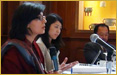 Dr. Sania Nishtar speaking as an invited expert at the Columbia University consultation on Wellbeing and Happiness hosted by Jeffery Sach in New York, USA on April 1-2, 2012.