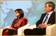 Sania Nishtar: plenary speaker at the Annual meetings of the World Bank in Tokyo Japan on October 11, 2012, in the session �Making the Case for Investing in Health, Again!� The session was moderated by Andrew Jack of the Financial Times. Other speakers included Maria Kiwanuka (Minister of Finance, Uganda), Christopher Murray (Director, Institute for Health metrics and Evaluation, University of Washington), Haruo Naito (President & CEO, Eisai Co.) and our President, Sania Nishtar.