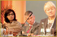 Sania Nishtar is a panelist at the 4th World Health Summit, 2012, Berlin with �Kate Gilmore, Bjorn Oddens, and Marleen Temmermann in a session chaired by Ilona Kickbusch and Anders Nordstr�m.