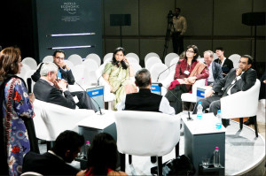 Sania Nishtar WEF New Delhi