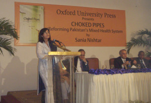 Choked Pipes was launched by the Oxford University Press on May 04 in Beach Luxary Hotel, Karachi.