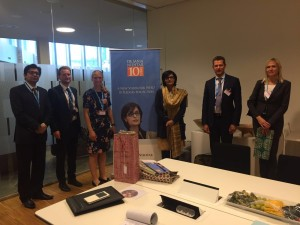 Dr. Sania Nishtar campaigning in Copenhagen at the WHO EURO regional committee meeting during the WHO Director General election campaign_ 2017