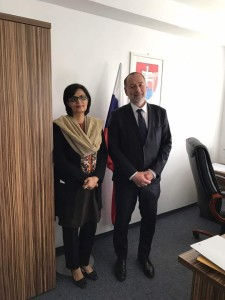 Dr. Sania Nishtar canvassing in Bratislava during the WHO Director General election campaign_ 2017