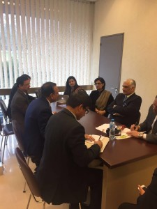 Dr. Sania Nishtar canvassing in Geneva along with Minister Zahid Hamid during the WHO Director General election campaign_ 2017