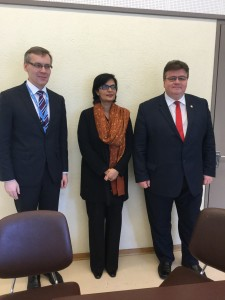 Dr. Sania Nishtar canvassing in Geneva during the WHO Director General election campaign_ 2017