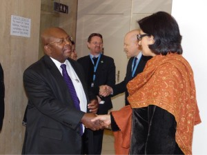 Dr. Sania Nishtar during a reception in Geneva during the WHO Director General election campaign_ 2017