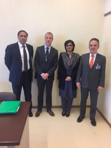Dr. Sania Nishtar in Geneva during the WHO Director General election campaign_ 2017