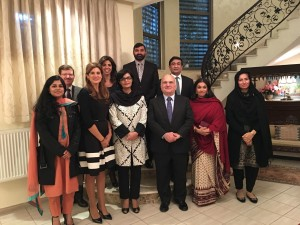 Dr. Sania Nishtar in Jordan at a dinner hosted by the Pakistan Ambassador during the WHO Director General election campaign_ 2017
