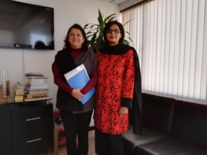 Dr. Sania Nishtar meeting the Deputy Minister of Health of Colombia in Bogota during the WHO Director General election campaign_ 2017.