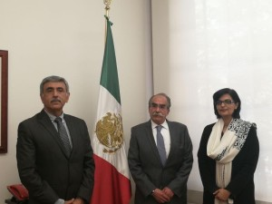 Dr. Sania Nishtar meeting the Deputy Minister of Health of Mexico during the WHO Director General election campaign_ 2017
