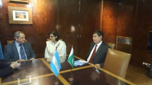 Dr. Sania Nishtar meeting the Minister of Health of Argentina during the WHO Director General election campaign_ 2017