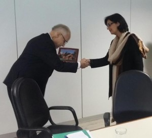 Dr. Sania Nishtar meeting the Minister of Health of Brazil in Brasila during the WHO Director General election campaign_ 2017