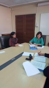 Dr. Sania Nishtar meeting the Minister of Health of Chile in Santiago during the WHO Director General election campaign_ 2017