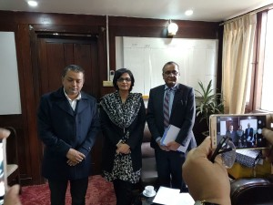 Dr. Sania Nishtar meeting the Minister of Health of Nepal in Kathmandu during the WHO Director General election campaign_ 2017