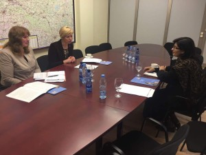 Dr. Sania Nishtar with the minister of health of Latvia during the WHO Director General election campaign_ 2017