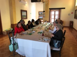 Lunch hosted by Pakistan Ambassador in Mexico during the WHO DG election campaign of Sania Nishtar