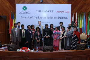 Minister Sania Nishtar at the launch of the Pakistan Lancet series