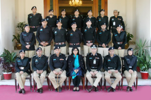 Sania Nishtar after a speech on governance at the national police academy