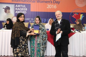 Sania Nishtar at a Womens day event at PPAF