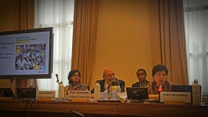 Sania Nishtar at the Ending Chilhood Obesity Technical Briefing in Geneva, May 2016