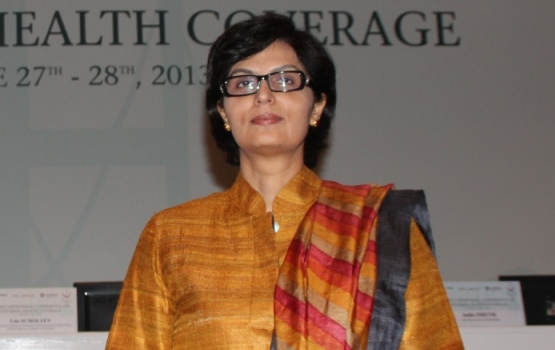 Sania Nishtar at the Ministerial Conference on Universal Health Coverage in June 2013 held in Istanbul