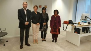 Sania Nishtar at the Ministry of Health of The Netherlands during the WHO DG election campaing 2017