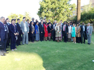 Sania Nishtar in Botswana for the SDGs post 2015 dialogue on health