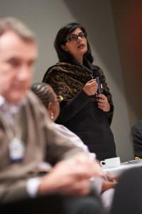 Sania Nishtar in Davos, 2012