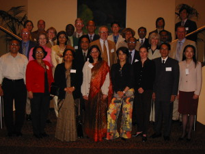 Sania Nishtar in Melbourne at a WHO Health promotion meeting, 2004