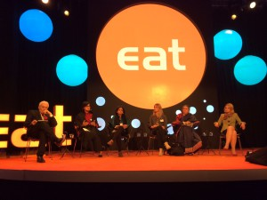 Sania Nishtar in Stockhom speaking at the EAT forum plenary, 2014