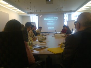 Sania Nishtar in Washington at the World Bank talking about the role of Ministries of Health