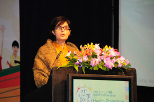 Sania Nishtar key note address at the global health promotion conference in Thialand