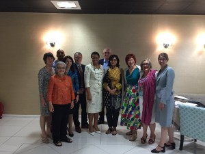 Sania Nishtar with Graca Machel and members of the UNSGs Independent Accountability Panel on EWEC