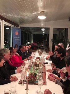 Speaking at a dinner meeting in Geneva at Pakistan House_ Dr Sania Nishtar during the WHO DG Election Campaign 2017
