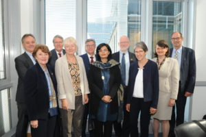 Sania Nishtar with the other members of the Advisory Board on Global Health of the German Government