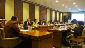 Dr Sania attending standing committee on Industries and Production