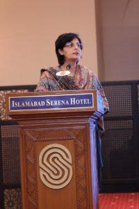 Dr.Sania Nishtar giving keynote address at roundtable on Innovative Financing mechanism in Islamabad_Nov 12