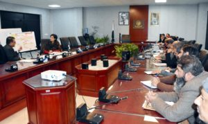 Dr. Sania Nishtar, SAPM on Social Protection and POverty Alleviation convenes Ehsaas Core Implementation Committee Meeting