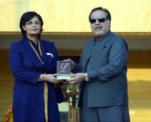 Dr. Sania Nishtar receives Ladies Fund Lifetime achievement award from Governor Sindh