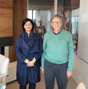 Dr. Nishtar and Bill Gates discuss ending poverty in Pakistan