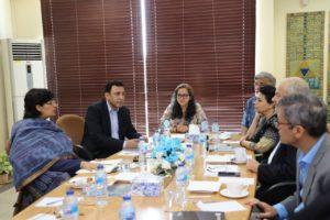 Dr. Nishtar visits Pakistan Poverty Alleviation Fund (PPAF)