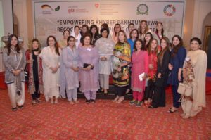 Dr. Sania Nishtar congratulates awardees of 'Women Champions of Change Awards' from KP