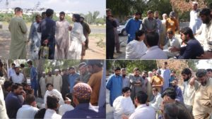 Dr. Sania engages with Labourers