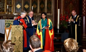 Dr. Sania receives D.Sc from Kings College London
