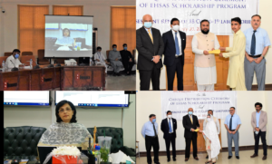 Dr. Sania addresses keynote at the Ehsaas Scholarship distribution event hosted by KMU